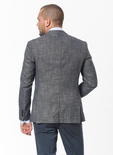 Beymen Business 4B0420200008 Slim Fit Ceket Desenli Lacivert